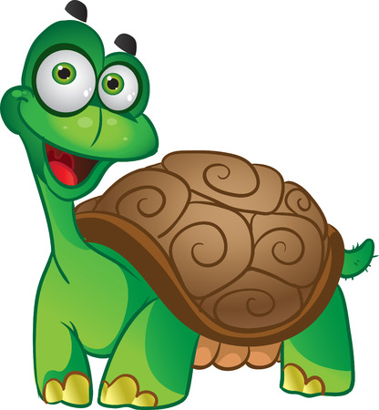 Smiling fun vector tortoise  Vector