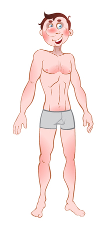 boy underwear: vector picture bare men in pants Illustration