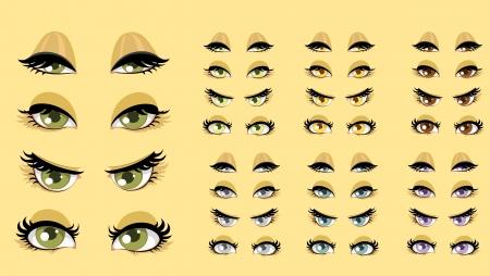 soulful eyes: Beautiful women eyes 1 Illustration