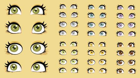 soulful eyes: Beautiful women eyes  Illustration
