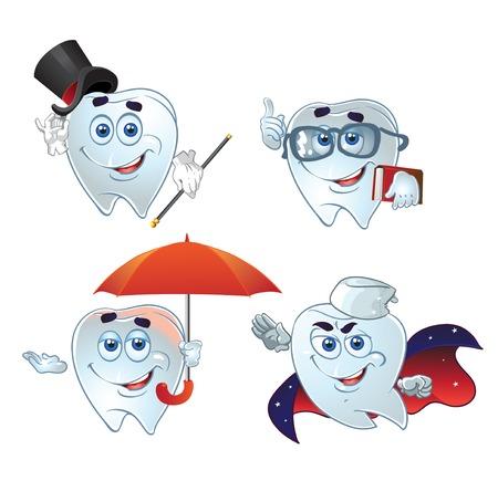 dientes con caries: dientes inteligentes prisa en ayuda