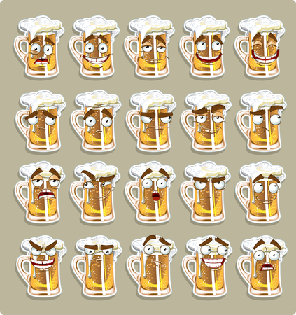thoughtfulness: cute series of smiles beer stickers