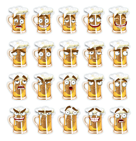 thoughtfulness: cute series of smiles beer