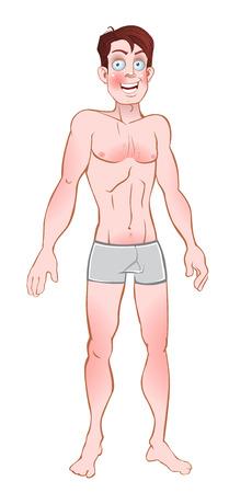 vector picture exposed nice men in pants Vector