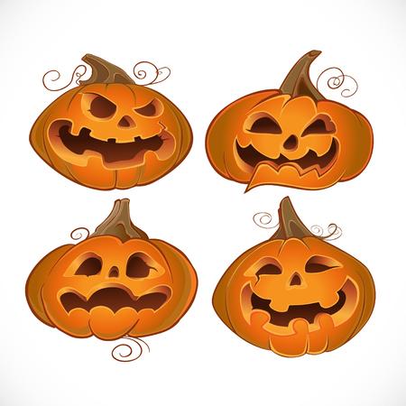 Halloween fun pumpkins Vector