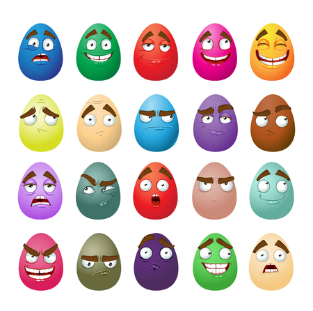 resentment: Happy easter smiling eggs