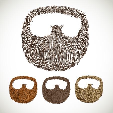 Nette baard in kleurvariaties
