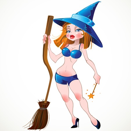 vector yong pretty naked sexy witch