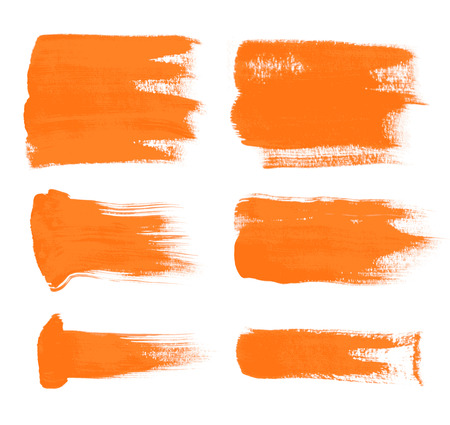 orange brush strokes - the perfect backdrop for your text Vector