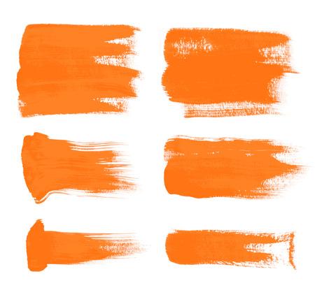 oranje penseelstreken - de perfecte achtergrond voor uw tekst Stock Illustratie