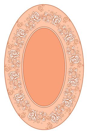 solemn: Fondo de color rosa con flores Vectores