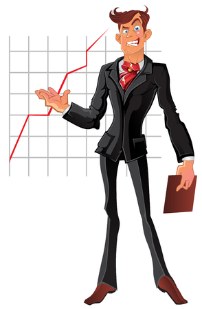 vector presentation businessman Vector