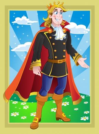 principe: Principe sul paesaggio da fiaba