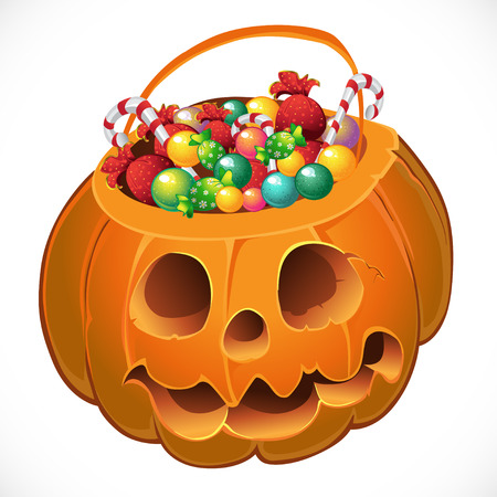 pumpkin with a candy Vector