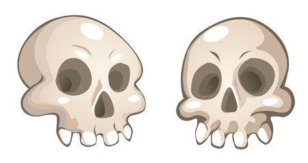 vector cartoon skulls Vector