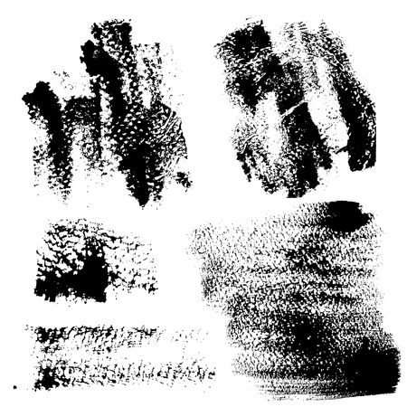 smears: Smears and fingerprints with paint on textured paper