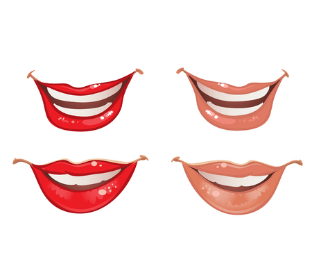 Smiling lips of the mouth Vector
