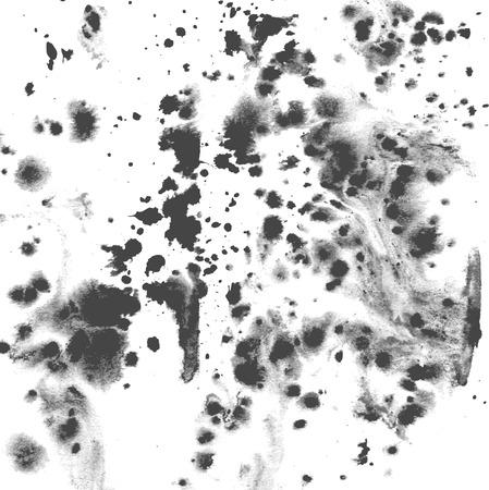 streaks: Splashes and streaks of ink on paper