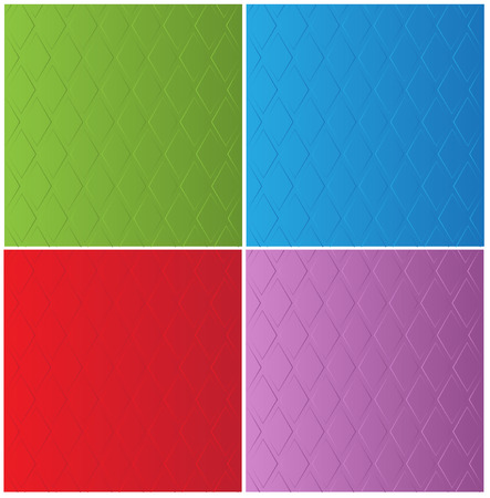 pretense: stylish color backgrounds in diamond-shaped ornamental pattern