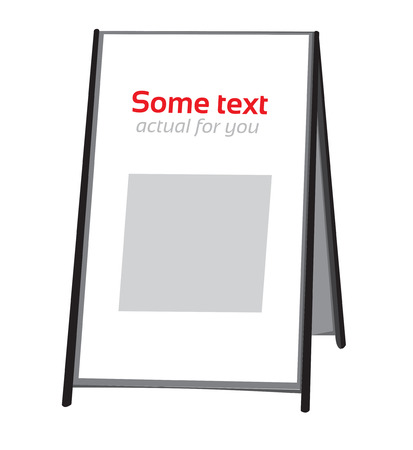 bill board: Advertising stand