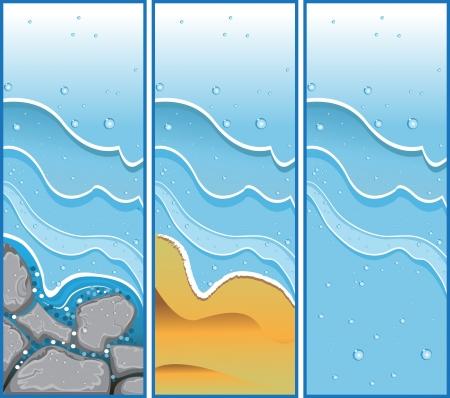 aqueous: Buners acquose senza testo Vettoriali