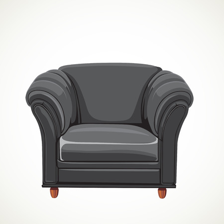 black vector isolated leather armchair Stock Vector - 23150689
