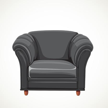 black vector isolated leather armchair Stock Vector - 23150689