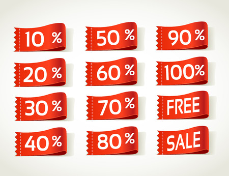 arrival label sale percents Vector