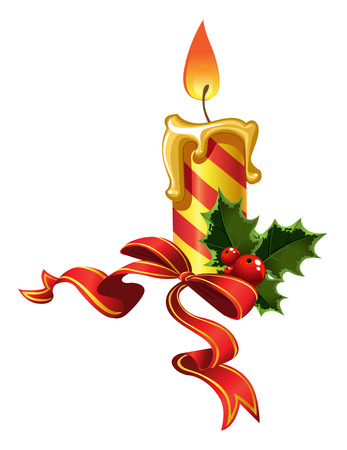 christmas deco: New Years candle