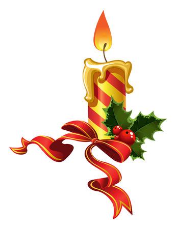 velas de navidad: Vela de fin de a?o Vectores