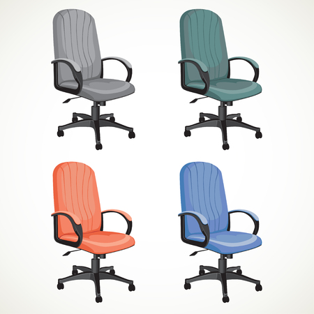 easy chair: color vector office chair isolated on white background Illustration