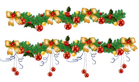クリスマスの花輪, ベクトル