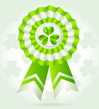 Clover award on St. PatricK`s Day Vector