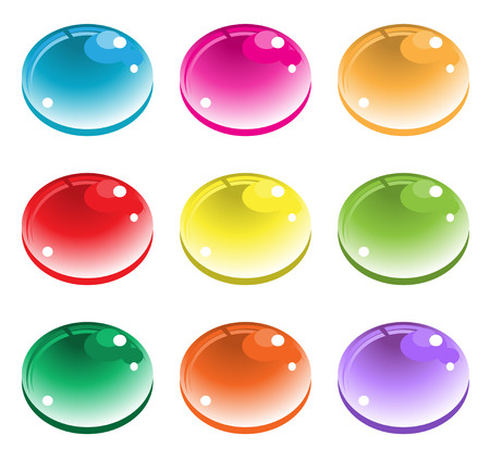 Color drops button. vector Stock Vector - 23150902