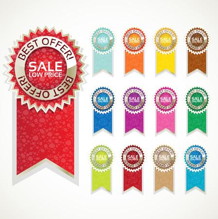 Color sale label set Stock Vector - 23150908