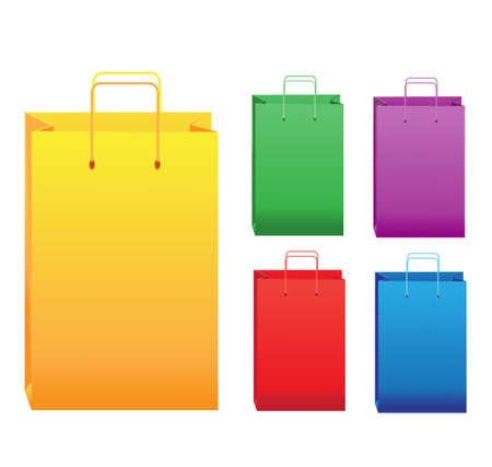 Color shopping bags Stock Vector - 23150909