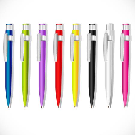 Color vector souvenir pens Illustration