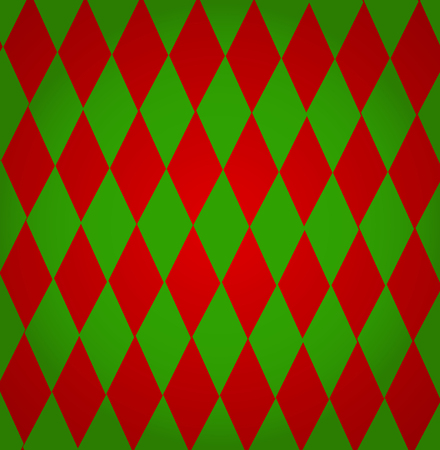 trickery: Colorful christmas background from red and green diamond shapes for your text Illustration