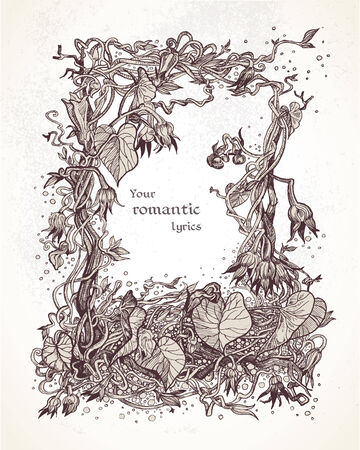 lyrics: Decorative vintage frame of bindweed for your lyrics