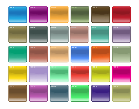 Design glossy element of different color Vector