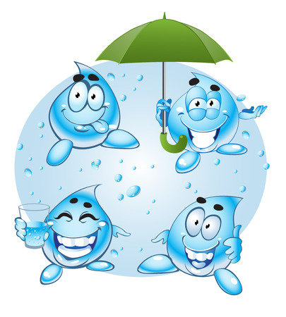 drops of water Stock Vector - 23151086