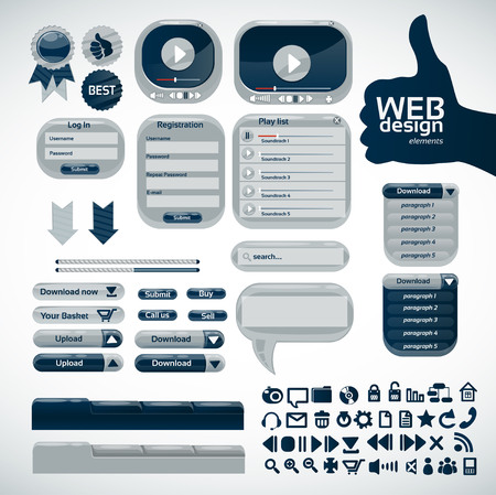 pagination: Elements for web design. Big set