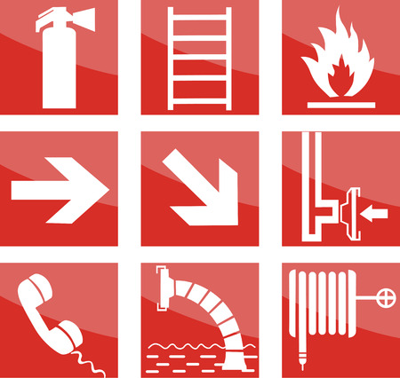 fire safety: Fire safety signs