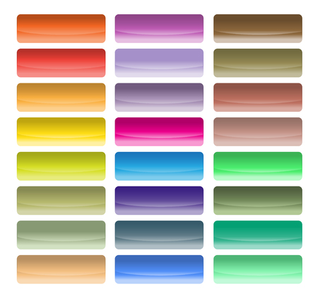 Glossy buttons of different color Vector