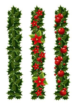 Groene kerst slingers van hulst