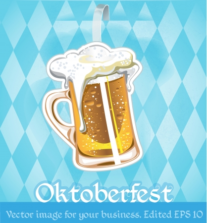 image with beer on oktoberfest for your business. edited Stock Vector - 23152094