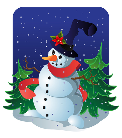 New Years snowman Vector