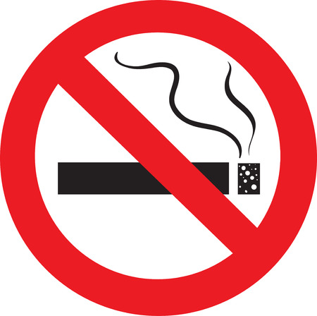hazard damage: no smoking Illustration