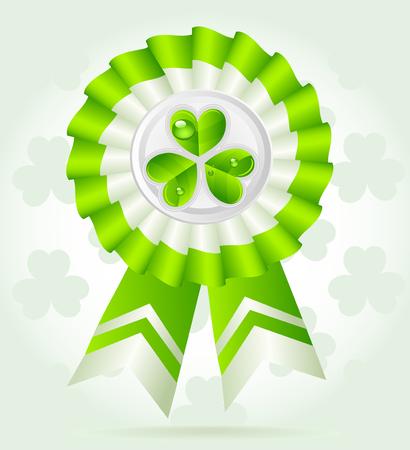 pretty clover award on St. PatricK`s Day Stock Vector - 23152634