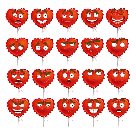 thoughtfulness: Red Valentine balloon smiles set